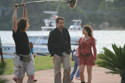 PHOTO-6 - On The Set of TV Serie 'Finding You' - Marc Levy